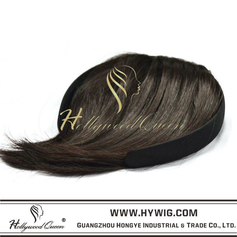Wholesale Fashion High Quality Clip In Bang Fringe Synthetic Hair Extension Products