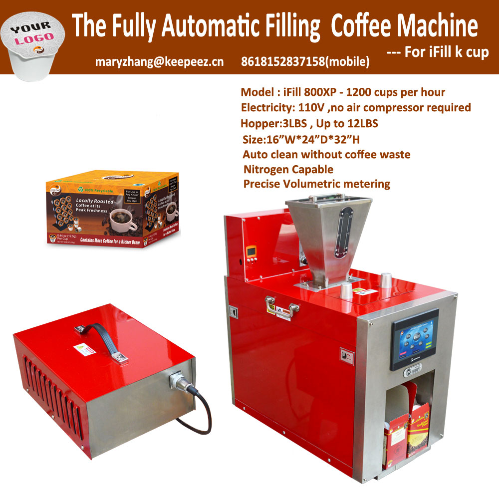 iFill800XP 2.0 Kcup Combined Automatic Filling and Boxing Machine