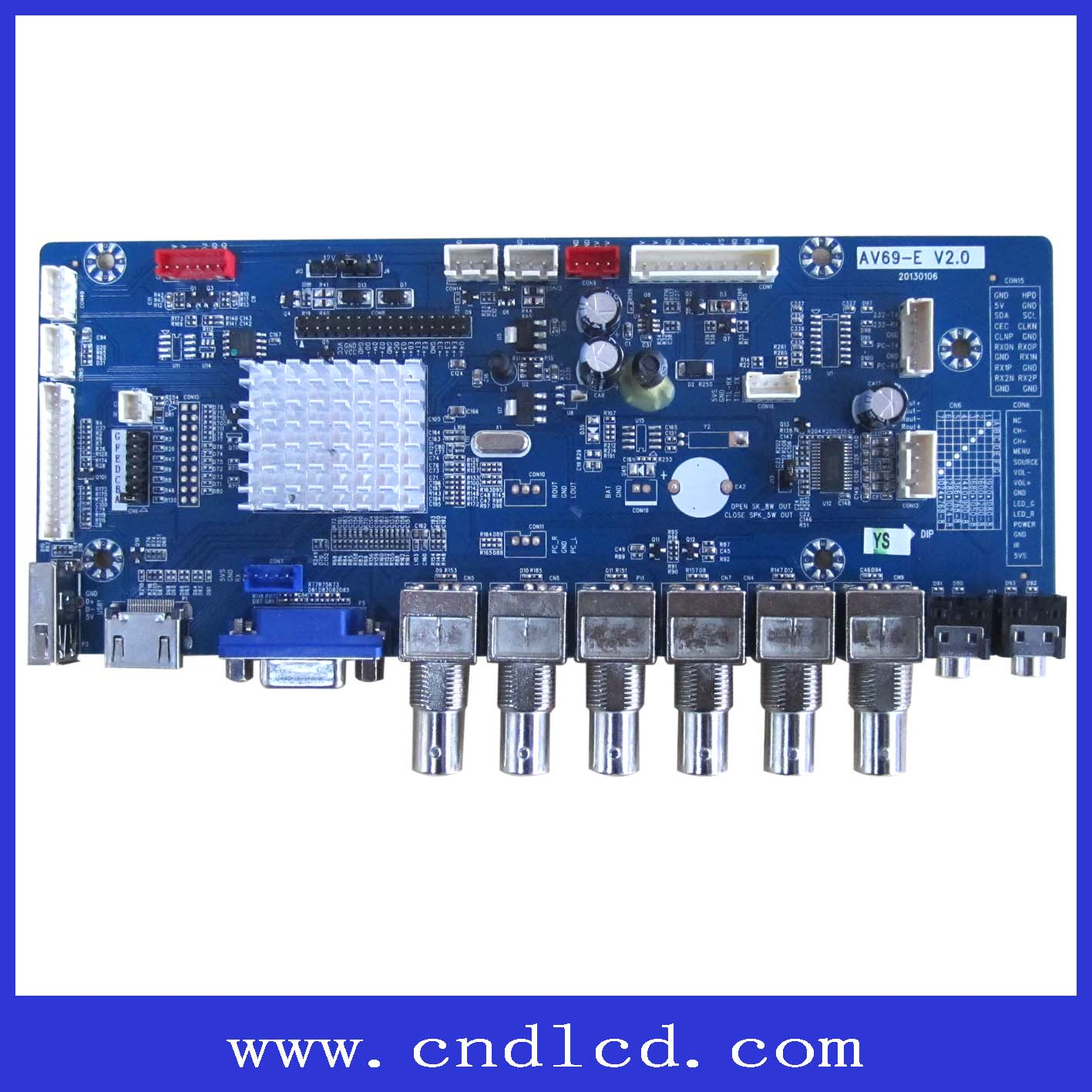 High Quality Vda To Lvds Monitor Board