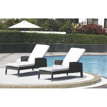 New Style Resin Wicker France Outdoor Cheap Garden Sun Loungers