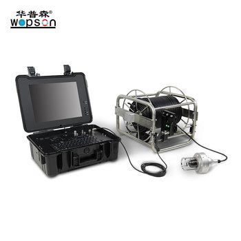 Video endoscope 360 rotation pan tilt underwater inspection camera borehole inspection