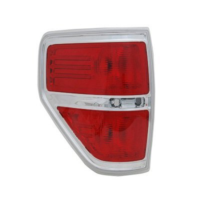 DRIVER SIDE TAIL LIGHT Ford F-150, Ford F-250, Ford F-350, Ford F-450 LENS AND HOUSING; FOR STYLESIDE MODELS; EXCEPT FX2/HARLEY DAVIDSON MODELS/SVT RAPTOR;