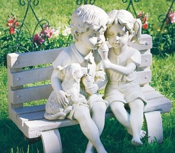 Garden Statues - Children On Bench Sculpture - Buy Garden Statues Product  on Alibaba com
