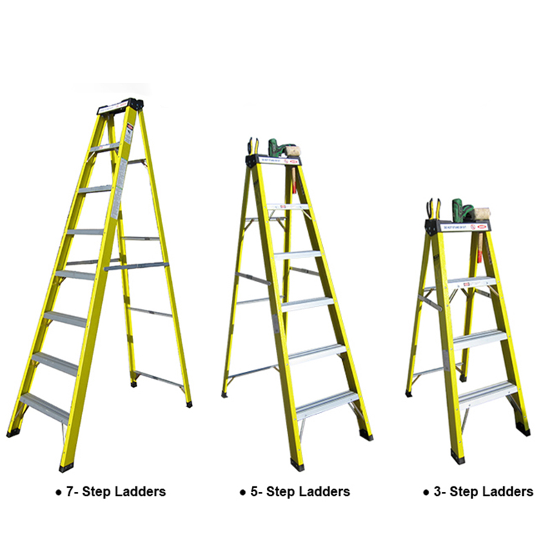 A type fiberglass insulated ladder FRP step ladder