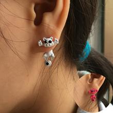 2015 New Hot Color Fashion 3D Black eye Cute Cat Ear Fine Jewelry Stud Earrings For Women  E0007-B