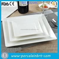 3 set white glazed ceramic wholesale dinner plates