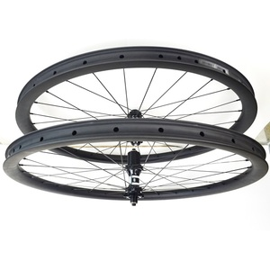 30mm deep 700c wheels Gravel bike carbon disc wheel carbon fiber wheels with Bitex hub