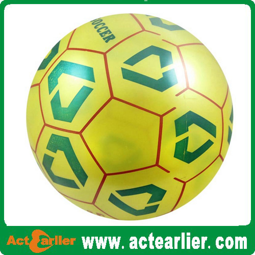 8.5 inch inflatable plastic pvc soccer ball toy