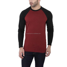 Men's Cotton Roundneck T shirt Long Sleeve Tee Fit T Shirt 100% Cotton Raglan sleeve T-Shirt