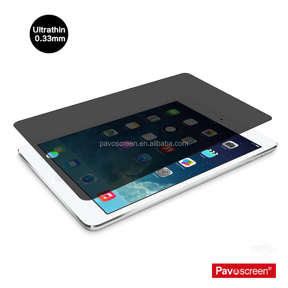 Pavoscreen 80% transparency screen protector film roll trending wholesale privacy filter glass screen protector for Ipad 2 3 4