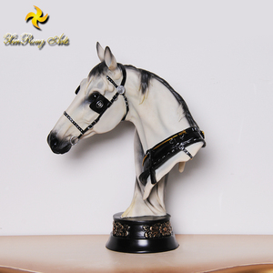 Special resin steed statue, resin horse head figurine for animal decor