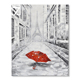 Impressional Paris Art Red Umbrella Effiel Tower handmade canvas oil painting For Room Decoration