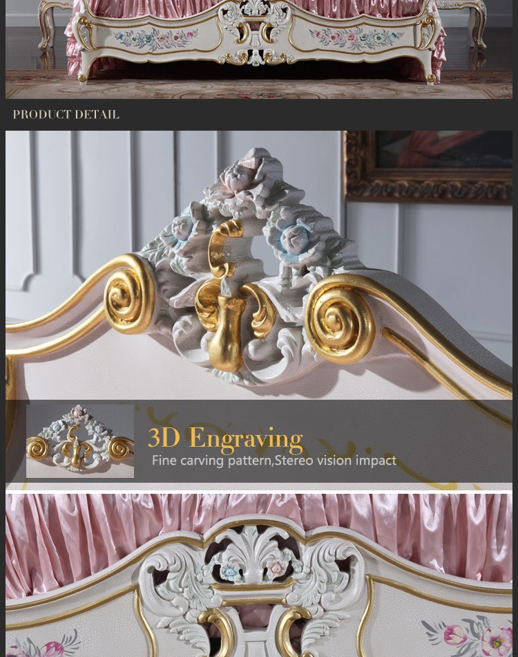 italian french antique furniture - bedroom furniture-Antique furniture reproduction bed