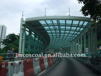 Highway aluminium noise barrier