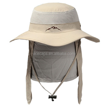 Outdoor Sun Protection Wide Brim Bucket Hat With Neck Shade - Buy ... b4d9b8fb544