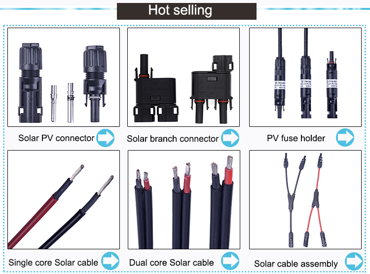 2 pins solar inverter connector copper contact for PV energy system