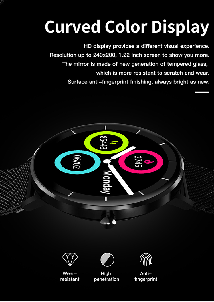 L6 Super Spetember Sport Waterproof Touch Screen Smart Watch Men Women