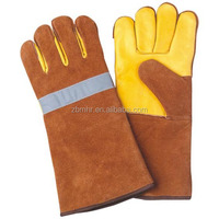 Brand MHR cow grain leather firefighter gloves / fire fighter gloves