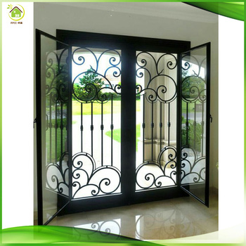 Black Metal Cast Wrought Iron Fireplace Safety Front French Doors Buy Wrought Iron French Doors Wrought Iron Fireplace Doors Cast Iron Fireplace Door Product On Alibaba Com