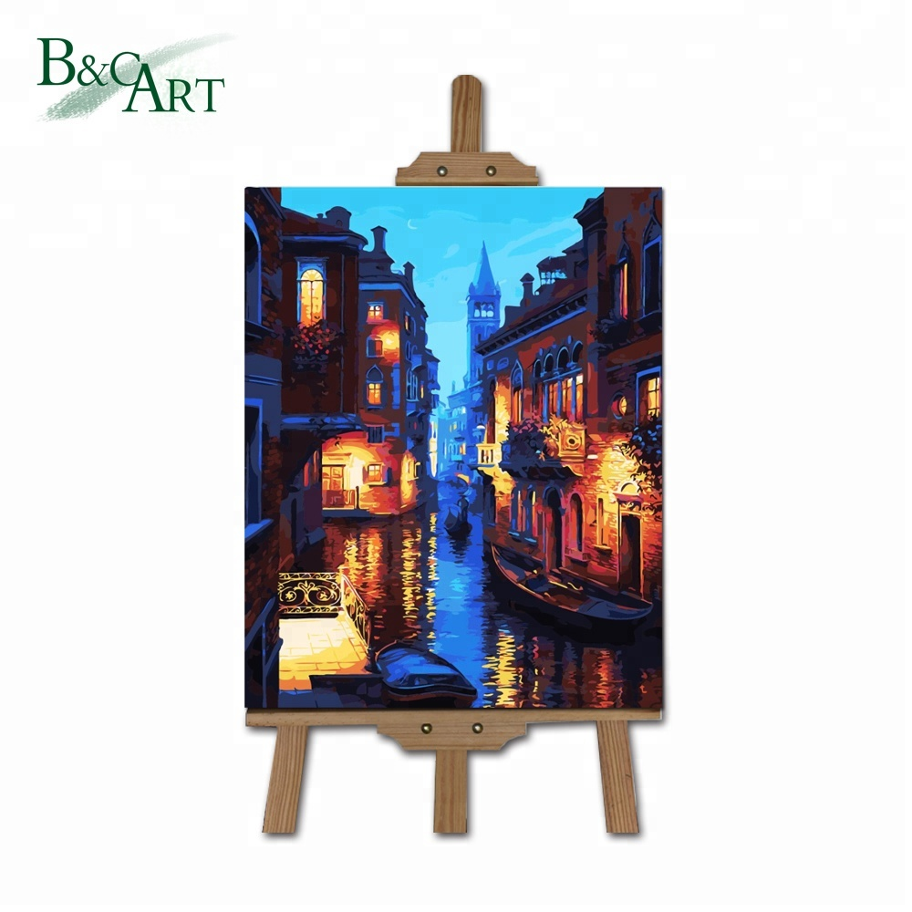 Wholesale Popular Creative Drawing Venice Town Landscape DIY Acrylic Painting by Numbers