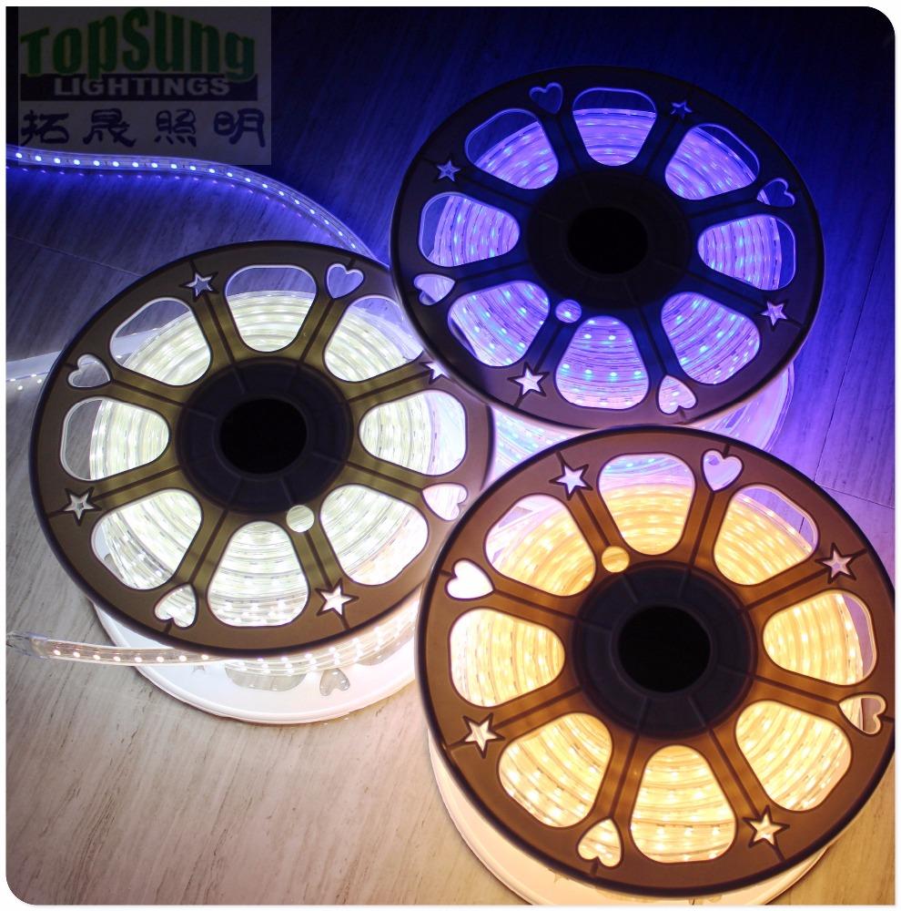 50m spool amber 110v led strip lights home depot 5050 SMD trade assurance Alibaba Gold Supplier