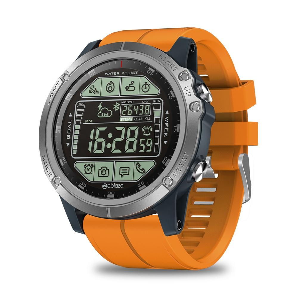 2019 Original Zeblaze VIBE 3S Waterproof 1.24 FSTN Sunlight-Visible Display All-day Tracking Sports Smartwatch VIBE 3S