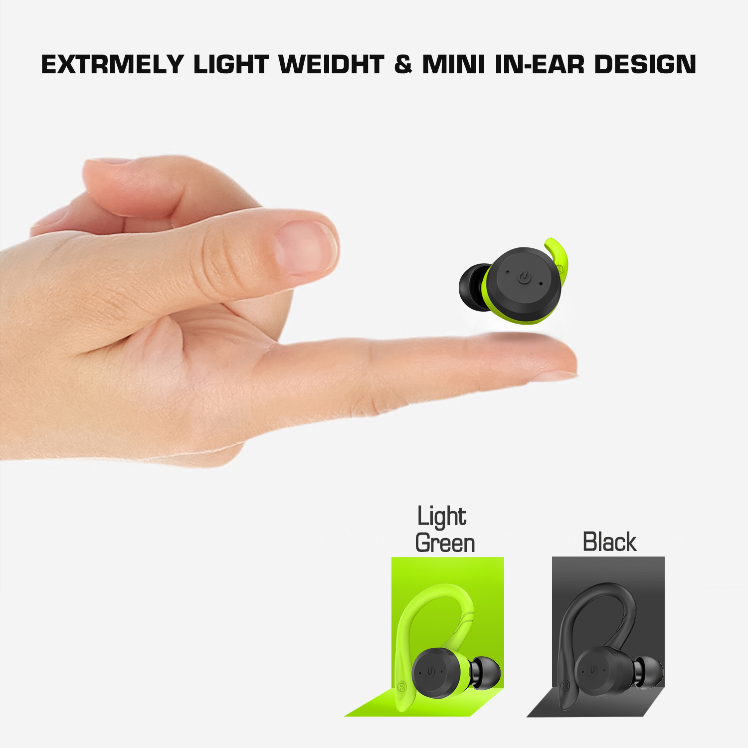 Noise cancelling true wireless earbuds V5.0 Bluetooth earphones BSCI