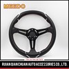 Proper price top quality 14 inch black suede car steering wheel