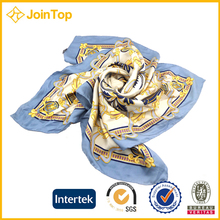 Chinese excellent twill 100% silk scarf 90x90 custom size