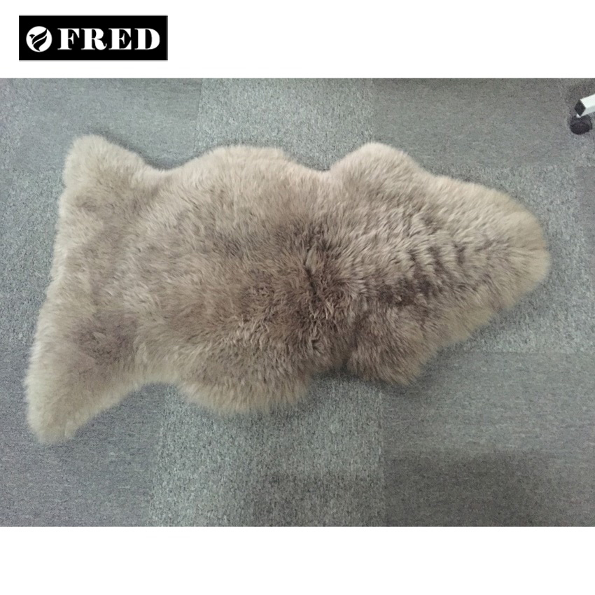 Modern OEM wholesale long hair sheepskin rug