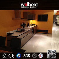 Flat Glass Door Modern Home Kitchen Cabinet Designs Ideas