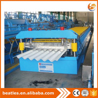 Roof panel steel plate corrugated machine,double layer roofing sheet making machine