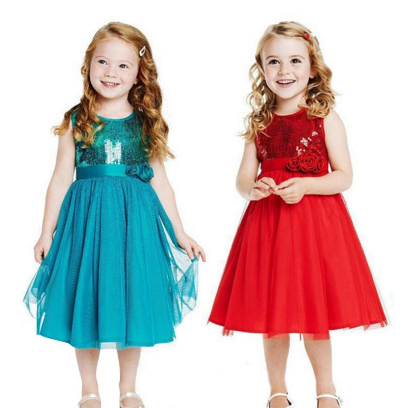 Baby Princess Kids Girls Christmas font b Fancy b font Flower Party Gown Formal font b
