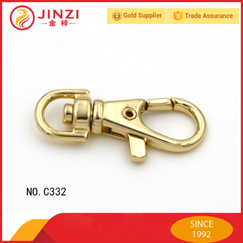 Custom shinning metal key holder swivel hook
