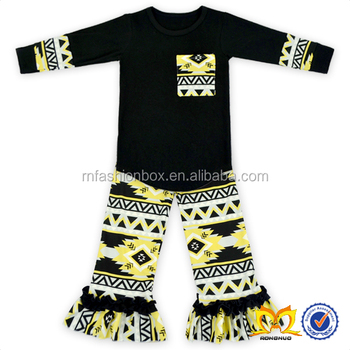 2019 Fall Girls Aztec Boutique Clothing Bulk Wholesale Kids Clothing Designer Clothing Manufacturer