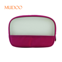 2018 FASHION PINK AND WHITE COSMETIC BAG TRAVEL COSMETIC BAG COSMETIC ZIPPER BAG CUSTOM FACTORY OUTLET