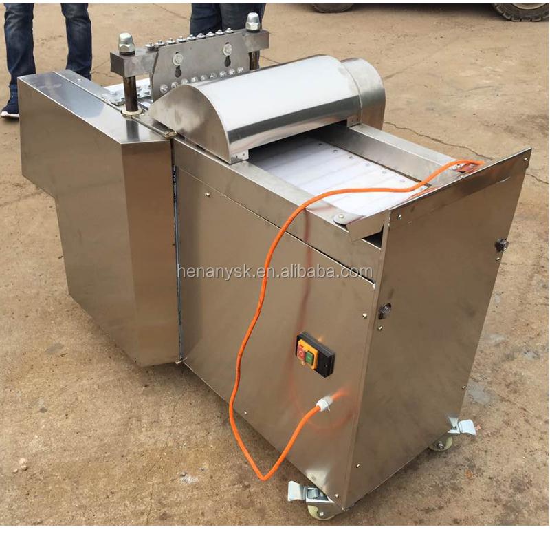 High Efficient Electric Pie Strip Bone Frozen Meat Cube Cutter Machine For Sale