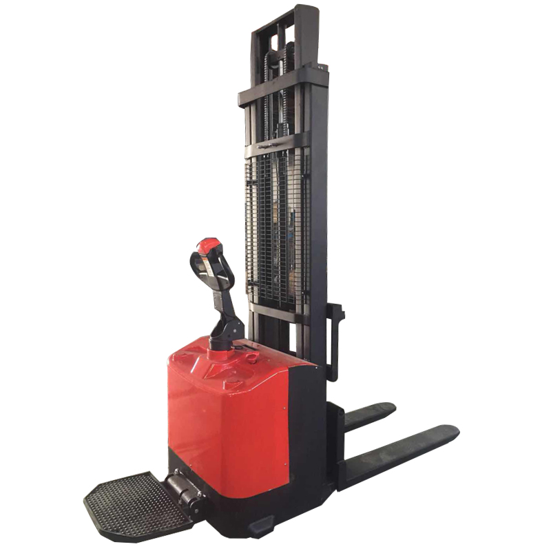 Good performance self loading forklift pallet jack full electric stacker