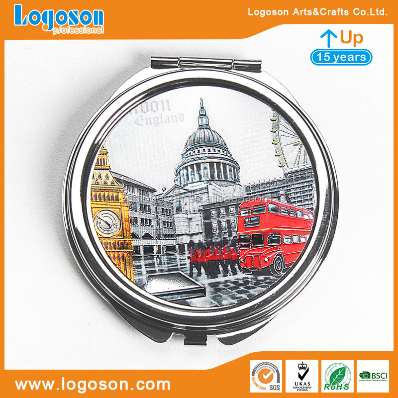 Barcelona Souvenir Mirror Traveling Souvenir Spain Make Up Travel Makeup Mirror Foldable Mirror