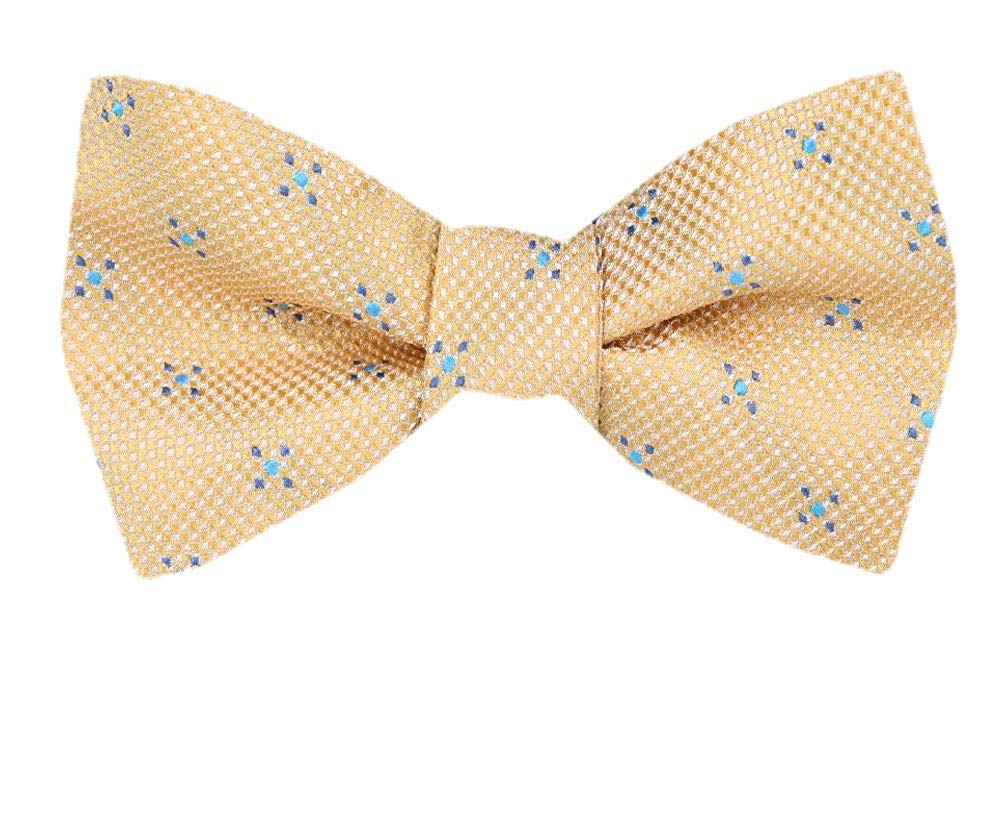 fe70f9304750 Get Quotations · Mens Gold Self Tie Bow Tie XL for Men Big and Tall Bows