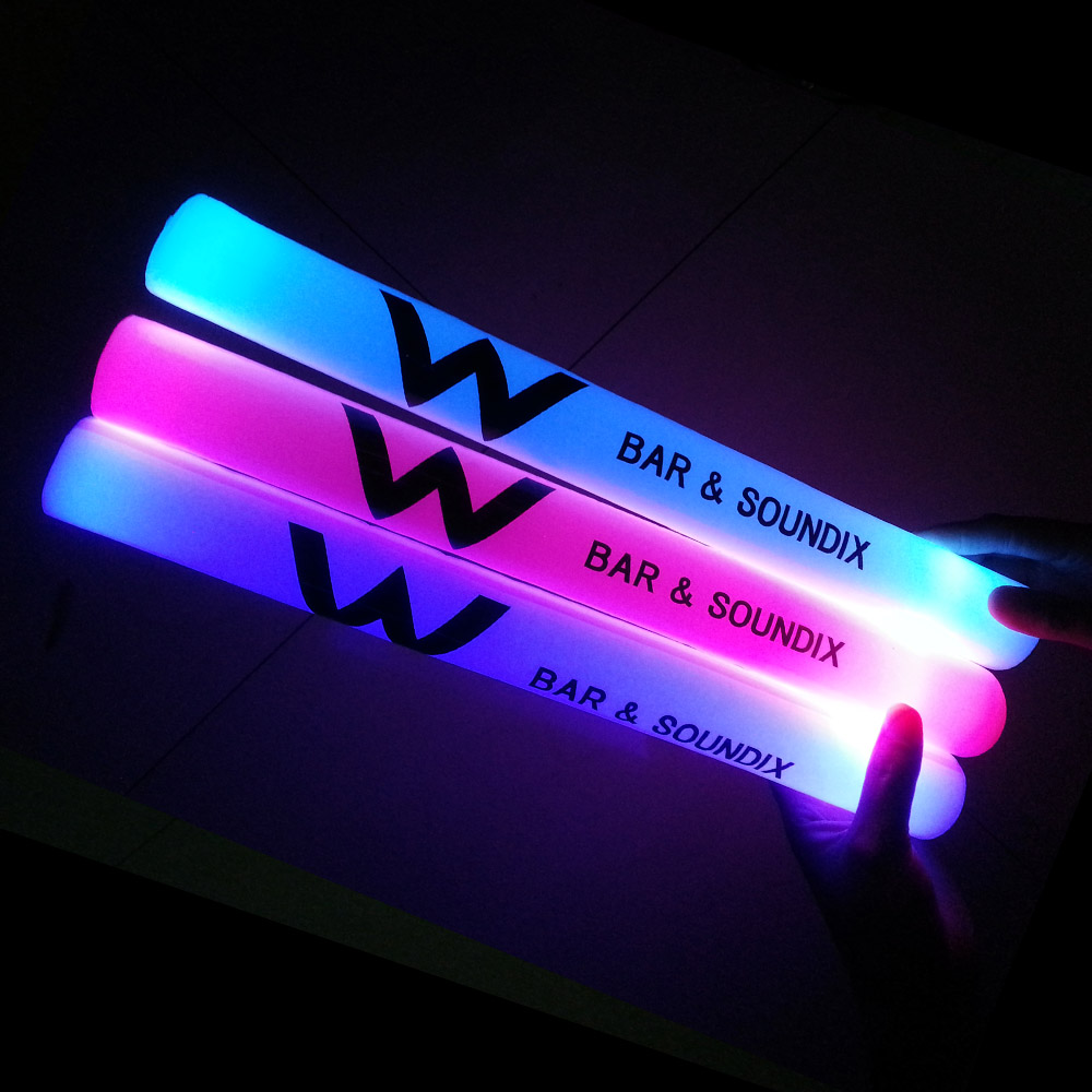 Custom party led flashing light foam glow stick
