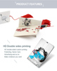 double-side printing logo fancy usb flash drive wedding give aways personalized pen drive