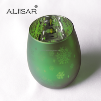 High Quality Wedding Favor Colored Glass Tealight Candle Holders Electroplating Candle Holder