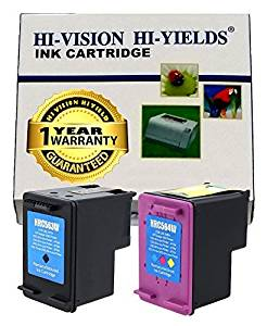 HI-VISION® 2 PK Remanufactured HP 61XL CH563WN CH564WN,NEW CHIP HY Black+Tri-Color Ink Cartridge Replacement for Deskjet 1010,2540 All-in-One,Envy 4500 e-All-in-One,5530 e,Officejet 4630 e-All-in-One