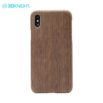 Natural walnut diagnal design phone case for iphone x cover carbon back cover for cell phone