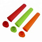 Pop Sticks Novelty Frozen Ice Pop Popsicle Maker Mold Custom Colorful Silicone Ice Cream Sticks With Lid