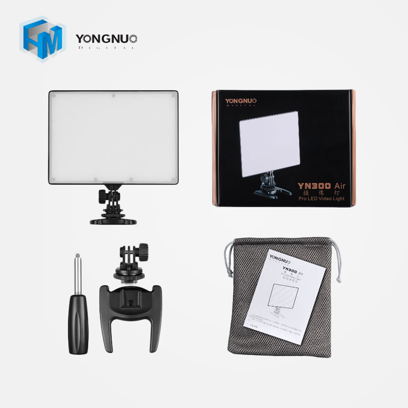 YongNuo YN300 AIR 3200k-5500k Pro LED Camera Video Light For Canon Nikon Panasonic DSLR Camera
