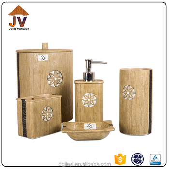 Promotional Brown Marble Home Trends Bathroom Accessories Sets Buy