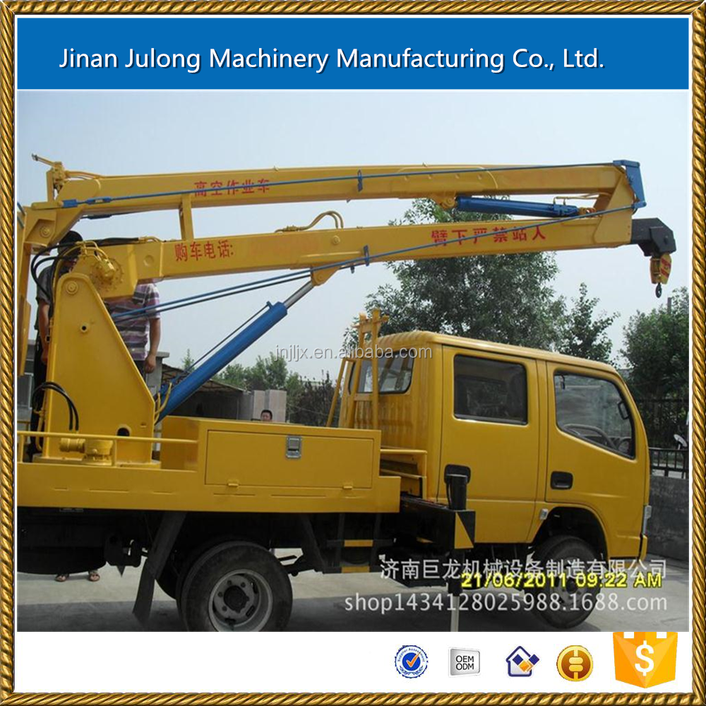 vehicular Crank arm genie lift telescopic boom lift