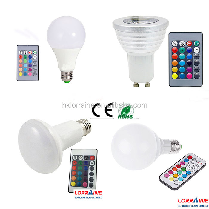 LED buld 9W 10w E27 Remote Control LED Bulb Light 16 Colors Changing 85V~265V LED RGB Bulb